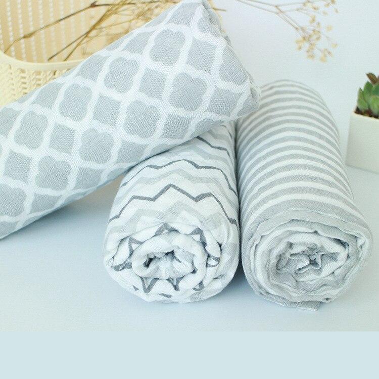 120*120 Grey Wave Muslin Baby Swaddling parisarc Wrap Blanket Newborn Infant 100%Cotton Swaddle Towel