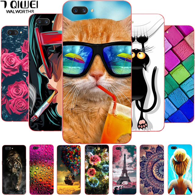 6.2'' For Oppo A3S Case Silicone Soft TPU Phone Case For Oppo A3S A 3S / Oppo A5 Case Cover OPPOA5 Painting Thin Para Animal