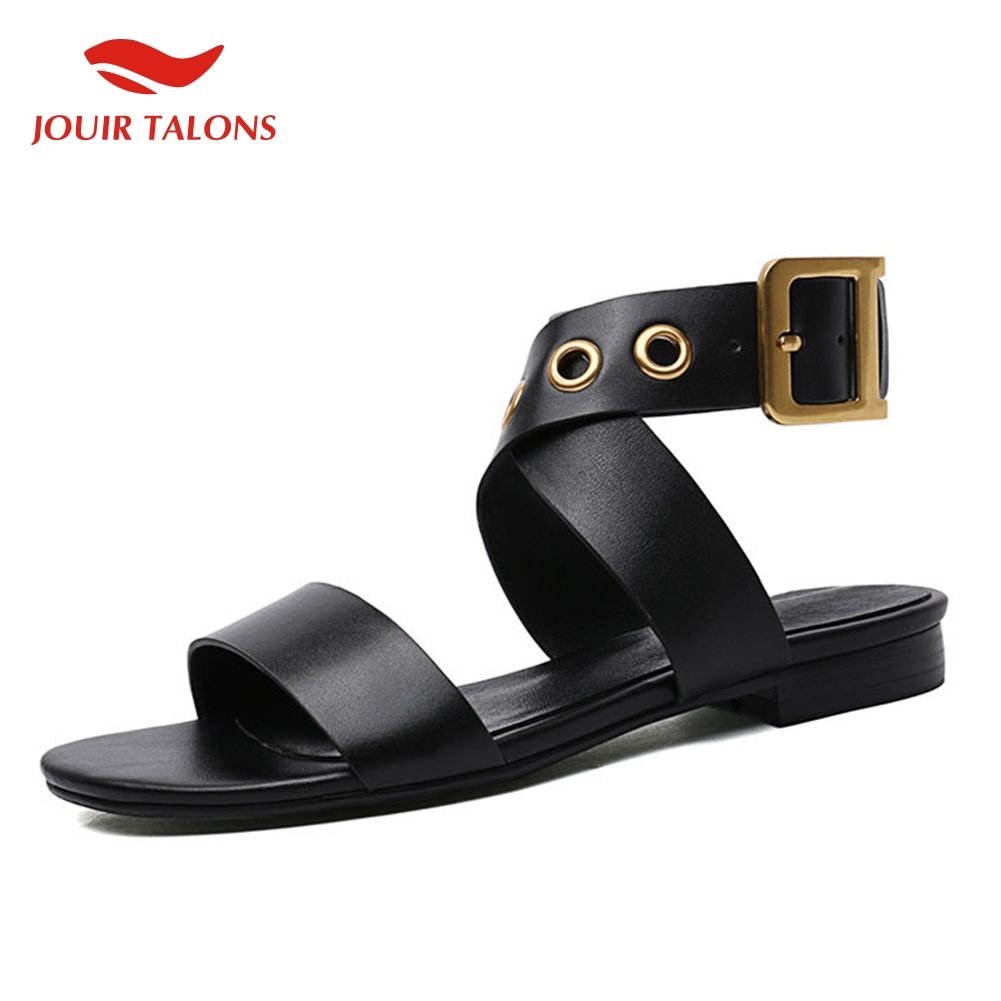 brand new big size 33 43 summer sandals women s genuine leather women shoes woman casual