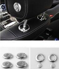 Car ABS Seat headrest elevator button cover sticker for Mercedes-Benz 2015-2017 W205 C class GLC Class
