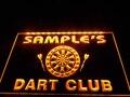 DZ030-Имя персонализированные пользовательские Дротика клуб пивной бар неоновая вывеска для организаций и магазинов подвесной знак для дома...