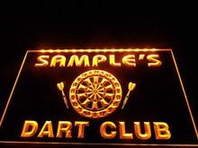 Dz030-nome personalizado personalizado dart clube barra de cerveja sinal de néon pendurar sinal de decoração para casa artesanato