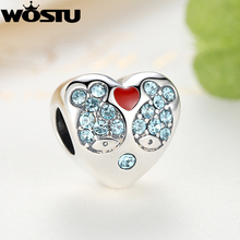 Real 925 Sterling Silver I Love You Double Fish Charm Beads Fit Original Pandora Bracelet