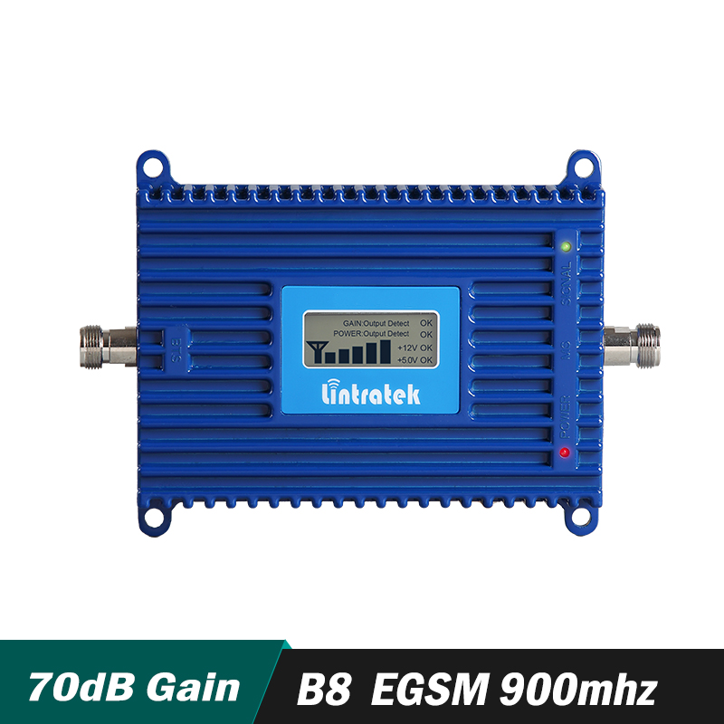 Gain 70dB LTE Band 8 (900 EGSM) mobile Signal Booster EGSM 900 mhz Cellular handy-Signal-Repeater Verstärker mit LCD Display