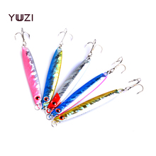 YUZI High-quality 1PCS Metal Lure Fishing Spoon Sea Fishing Hard Lure Bait Spoon Fishing Tackle Metal Jigging lures 25g 5 Colors hot 30pcs lot spinners fishing lure mixed color size weight metal spoon lures hard bait fishing tackle free shipping atificial