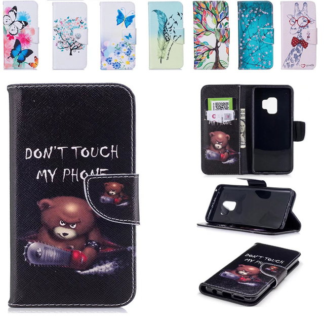 separation shoes 17133 95c67 US $6.99 |For Samsung Galaxy S9 Case Leather & Silicone Soft Back cover S9  Plus Cartoon Wallet Case Flip Cover For Samsung S9 Phone Case-in Flip Cases  ...