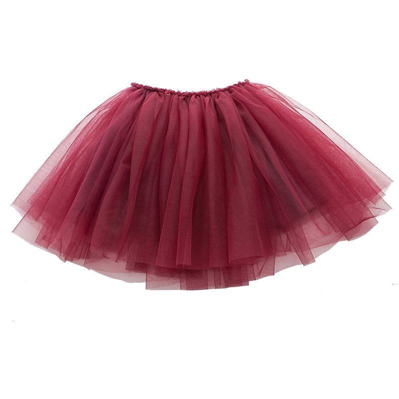 Tutu Skirt Tulle Girls Skirts Knee Length For Kids School Dance Fluffy Red Black Grey Color Princess Style Girls Clothes  3