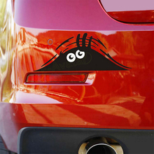 Funny Car Sticker Graphic Vinyl Peeking Monster