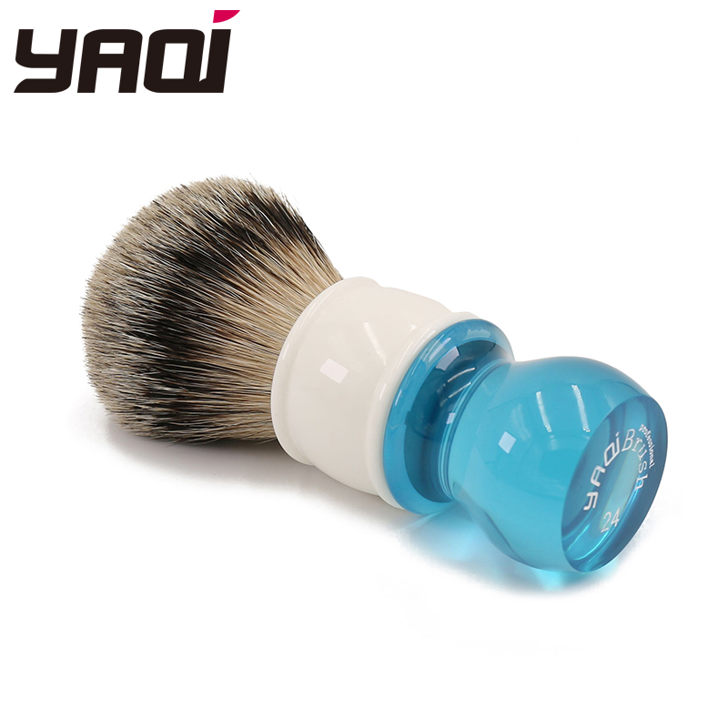Yaqi 24mm Aqua Highmountain Silvertip Badger Hair Shaving - Barbering og hårfjerning - Foto 4