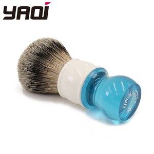 Image 4 - Yaqi brosse de rasage pour cheveux, Aqua Highmountain, blaireau à pointe argentée, 24mm
