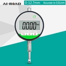 0-12.7mm Range Gauge Digital Display Dial Gauge Dial Indicator Precision Tool 0.01mm/0.0005