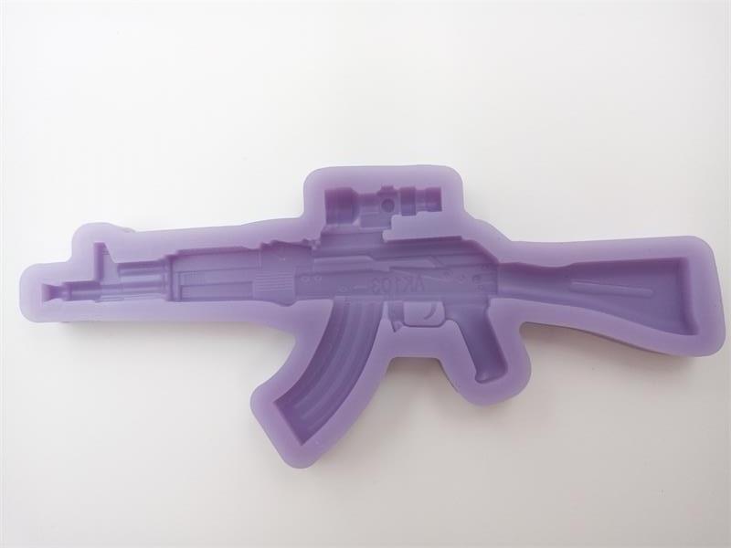 Cake Decorating Caulking Gun : M4A1 3D Gun Shape Silicone Mold Chocolate Mold Cake Mold ...