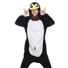 88134016abf Unisex Adult Winter Pajamas penguin Animal Pajama Sets Lovely Hooded  Homewear Flannel Sleepwear Female Cute Cartoon Women Pyjama