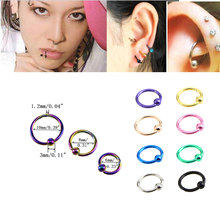 1PC Steel Captive Hoop Bead Rings BCR Lip Eyebrow Nose Nipple Labret Piercings Ear Septum Tragus Helix Piercing Body Jewelry(China)