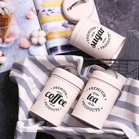 3Pcs/Set Tea Coffee Sugar Storage Canister Kitchen Spice Jar Candy Pot Set with Lid