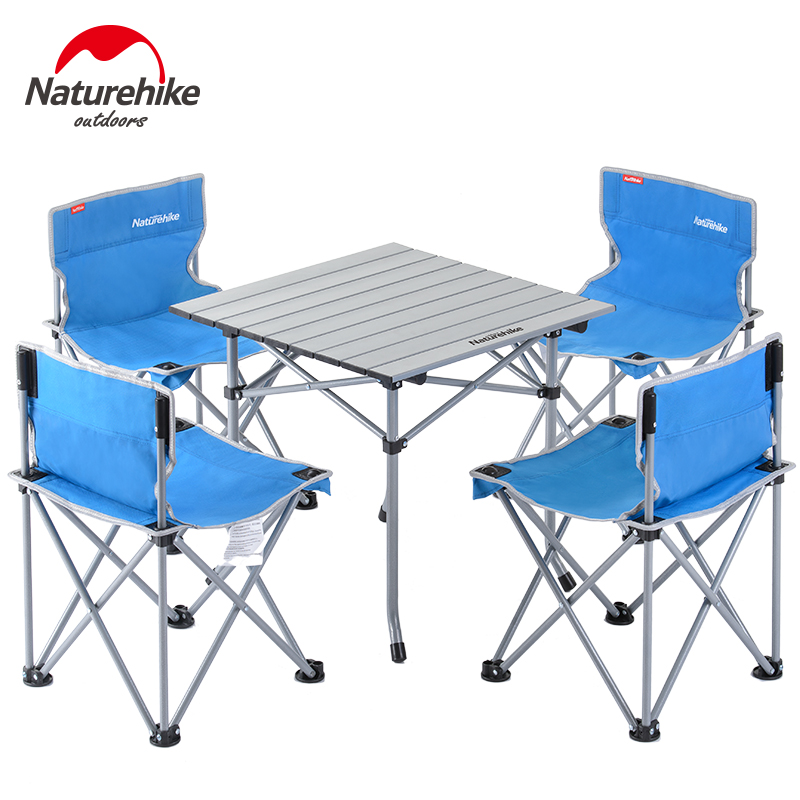 NatureHike Factory Outdoor Folding Table Camping Aluminium Alloy Picnic Table Folding Table Desk For Picnic 3pcs 5pcs set