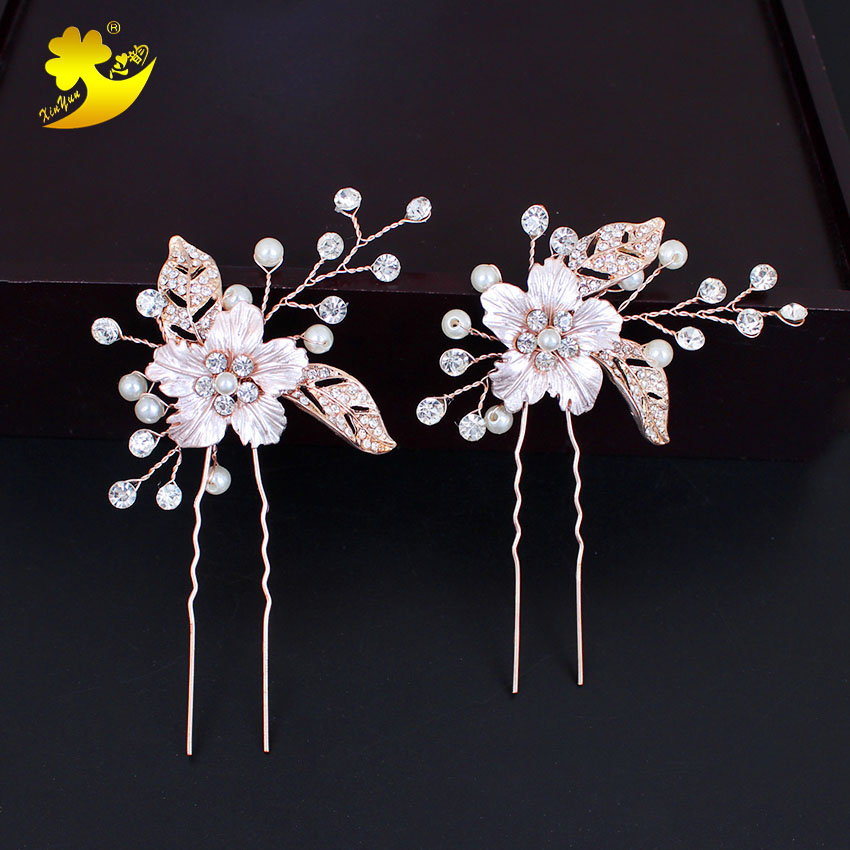 Xinyun Bridal Hair pin Hair Jewellery Flower Wedding Accessories Hair Bridal to be Bruids Haaraccessoires Haar Accessoires Hair