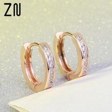 ZN European And American Fashion Classic Row of Rhinestones Earrings