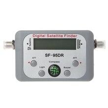 Digital Satellite Finder Misuratore di Segnale TV Finder Sat Decoder DVB T2 LCD FTA Piatto