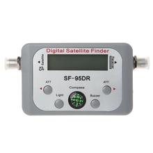 Medidor del buscador de señal de satélite Digital, decodificador Sat, DVB T2, LCD, plato de FTA