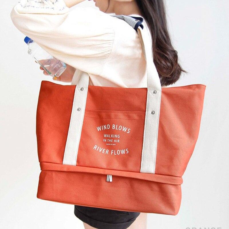 Новая мода дорожный футляр путешествия Сумки Для женщин Чемодан дорожная сумка складной Сумки двухэтажные Обувь сумка для хранения