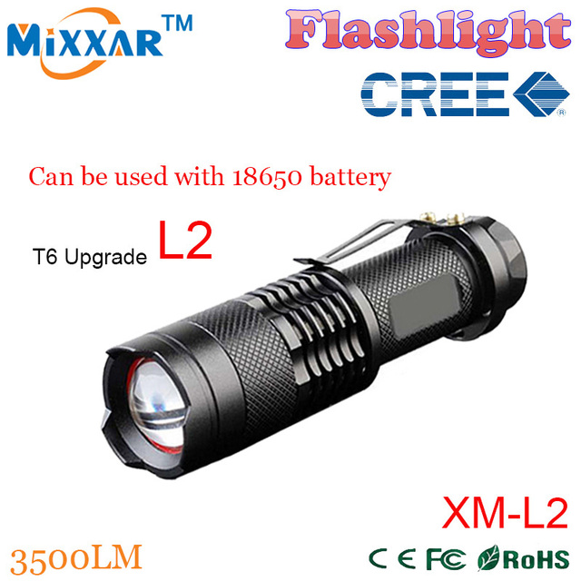 zk54 3500LM CREE XM-L2  led Torch Zoomable 5-modes lanterna LED tactical Waterproof led Flashlights Torch