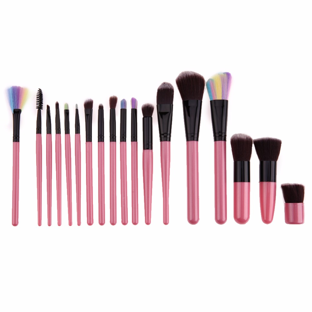 18pcs Professional Cosmetic Makeup Brushes Foundation Powder Blush Eyeliner Brush Pincel Maquiagem Make up Brushes 12 18 24pcs make up brush set soft synthetic professional cosmetic makeup foundation powder blush eyeliner brushes kit