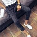 2016 summer mens dress pants hot sale men's business casual trousers europe straight suits pants formal men no iron dress