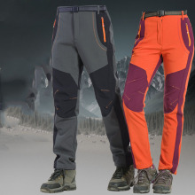 Pants Women Sports-Trousers Fleece Skiing Thick Outdoor Waterproof Breathable Slim Large-Size
