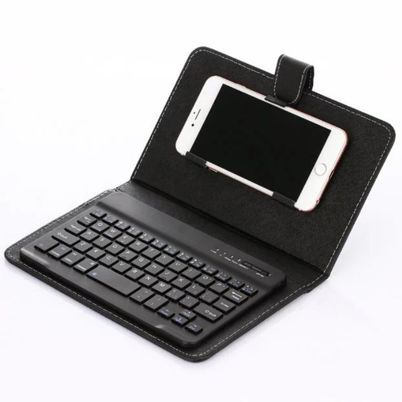 Bluetooth Keyboard Case For Xiaomi Mi 9 Redmi K20 Pro Note 7 PU Leather Cover Wireless Keyboard For iPhone Samsung Phone Holder in Mobile Phone Keyboards from Cellphones Telecommunications