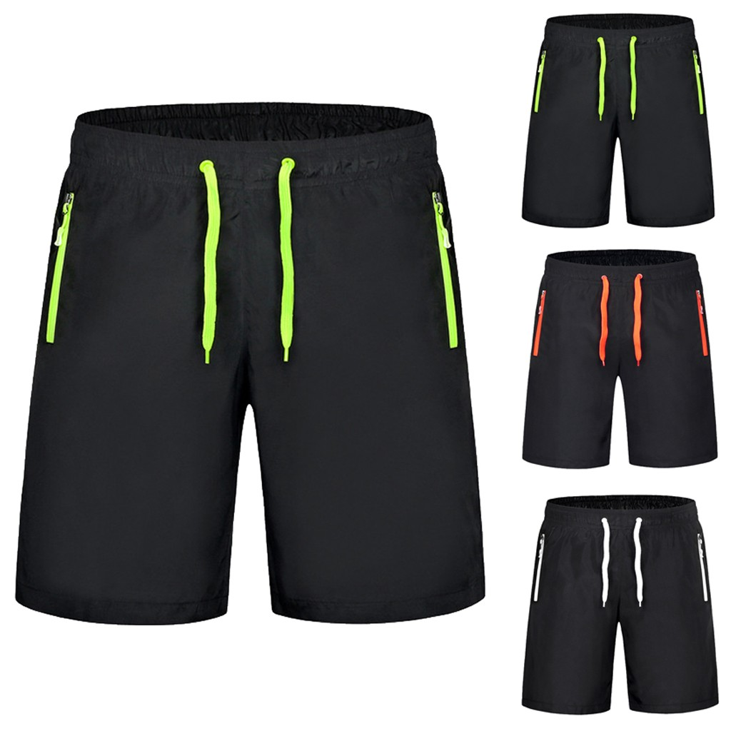 CHAMSGEND Pocket Sexy Men's Solid Color Swimming Men's Shorts Swimming Swim Trunks Shorts Zipper Sexy Swimwear Pants Gifts 1PC