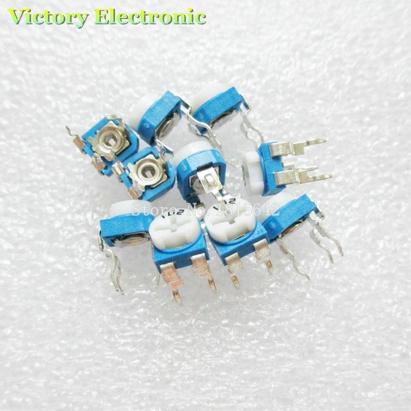 Nouveau 50 PCS/Lot potentiomètre réglable RM065 RM-065 20 Kohm 203 20 K résistances de coupe résistances réglables variables en gros