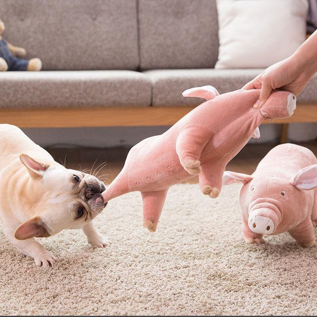 Cute Pig Plush Dog Toy  2