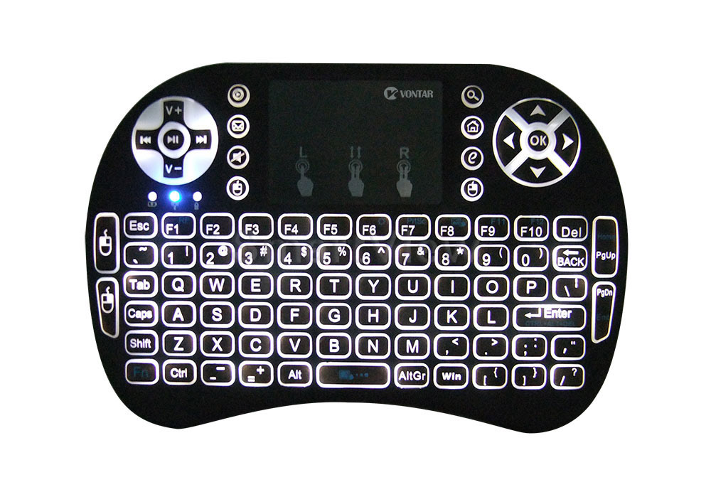 Vontar Backlit I8 English Russian Backlight Mini Wireless Keyboard