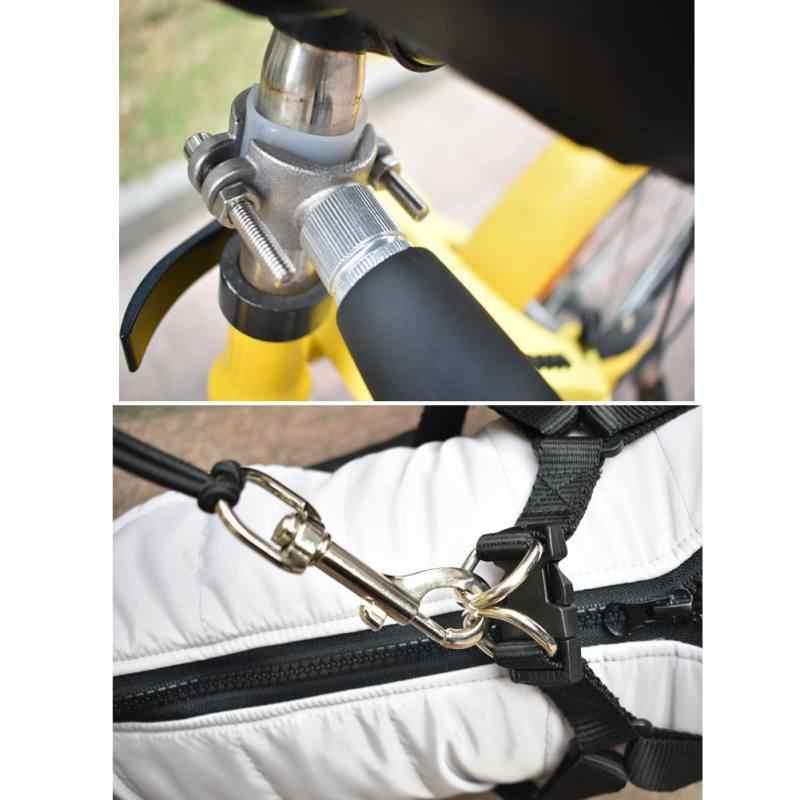 Из нержавеющей стали, велосипедная ходьба собаки хороший инструмент собака тренажер поводок встроенный буферный пружинный мягкий легкий Потяните Буксир для наружного использования