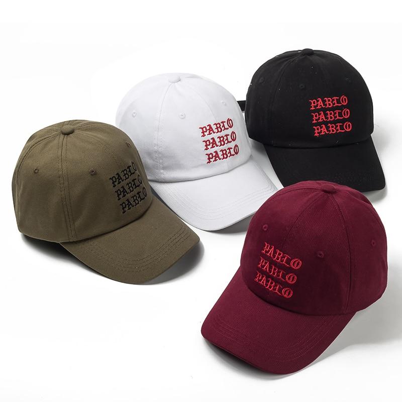 VORON New I Feel Like Pablo Red Hat Dad Baseball Cap Kanye Pablo Embroidery Dad Hat  Men Women Snapback Cap Hats