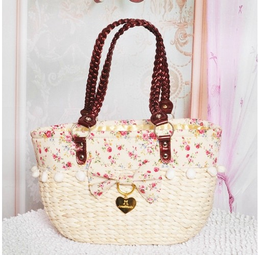 Beautiful Women Handbags 2017 Liz Lisa Love Rattan Bag Knitted Beach And Straw Bags Shoulder In Top Handle From Luggage On