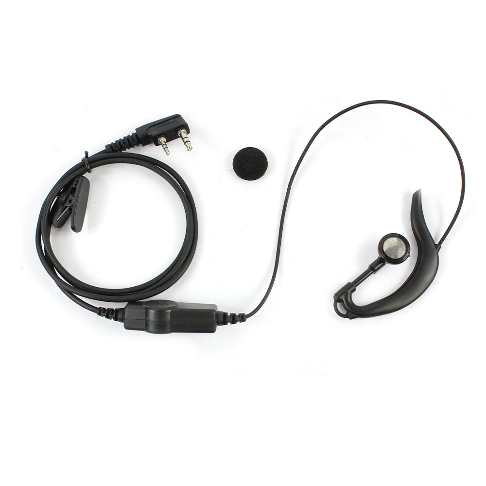 PTT Earpiece Headset Mic K Head Earphone For Baofeng BF-888S UV-5R BF-H8 Walkie Talkie Two Way Radio Accessories