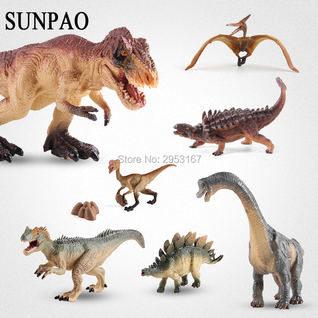 Una pieza plástico realista sólido dinosaurio Jurásico modelos ...