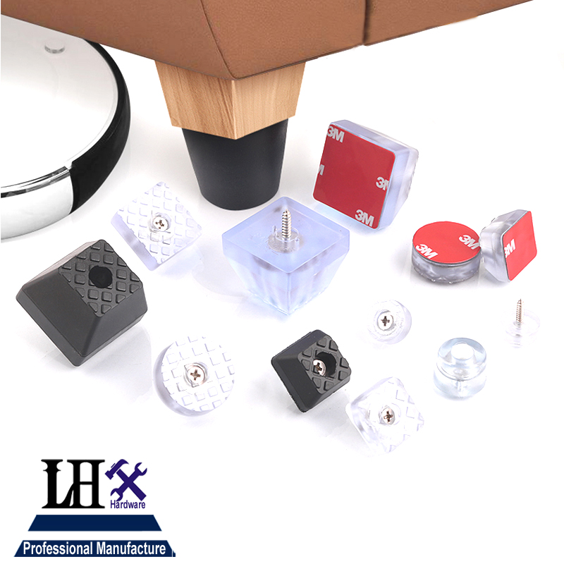LHX YP282 Furniture Cups Rubber Pad Foot Nails for Women Dressing-table Wooden Case Bookcase Chair Beside Table Hardware DIY i