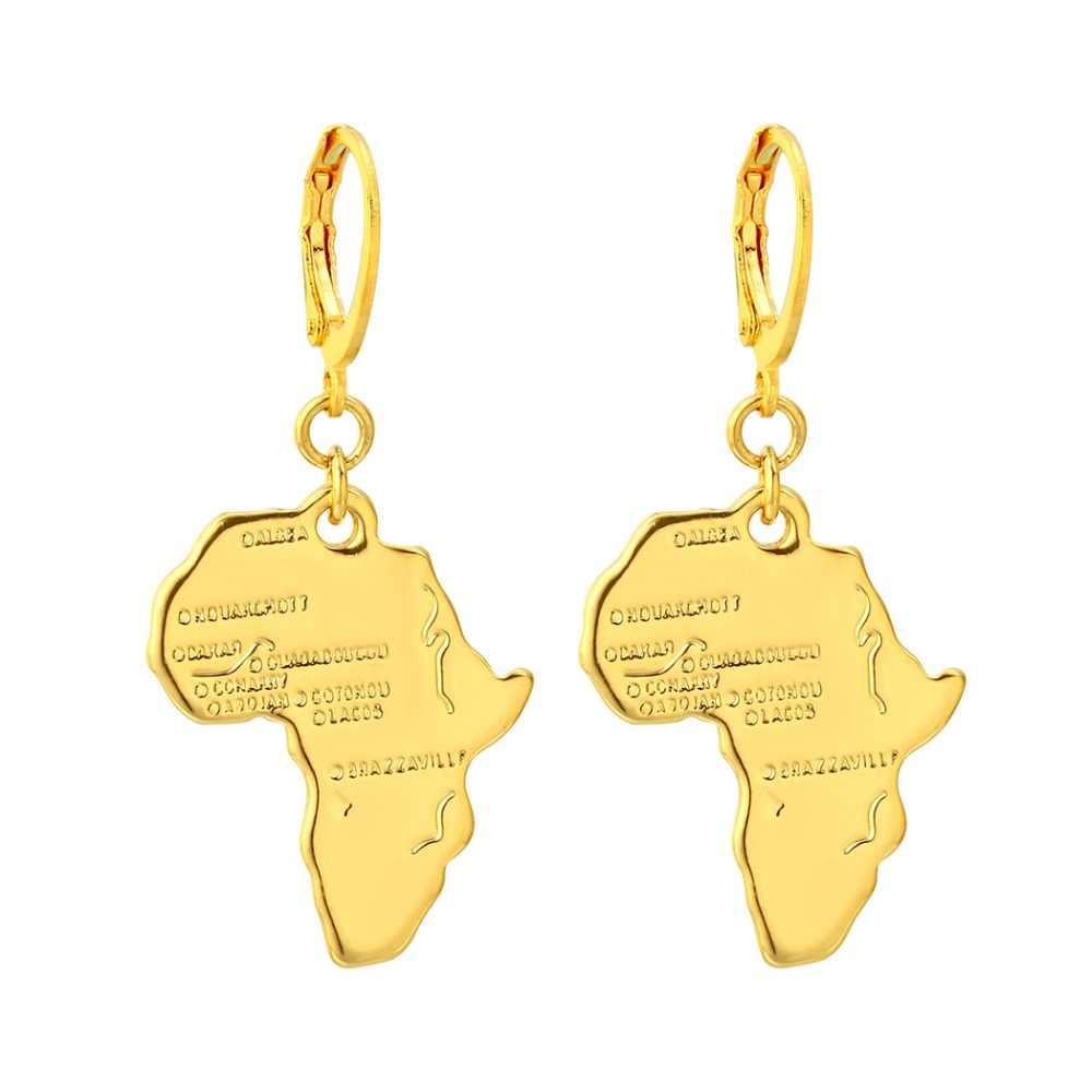 CHENGXUN หลายสร้อยคอจี้แอฟริกันอเมริกันเอเชียแผนที่จี้สร้อยคอผู้หญิงผู้ชายแฟชั่นเครื่องประดับของขวัญ