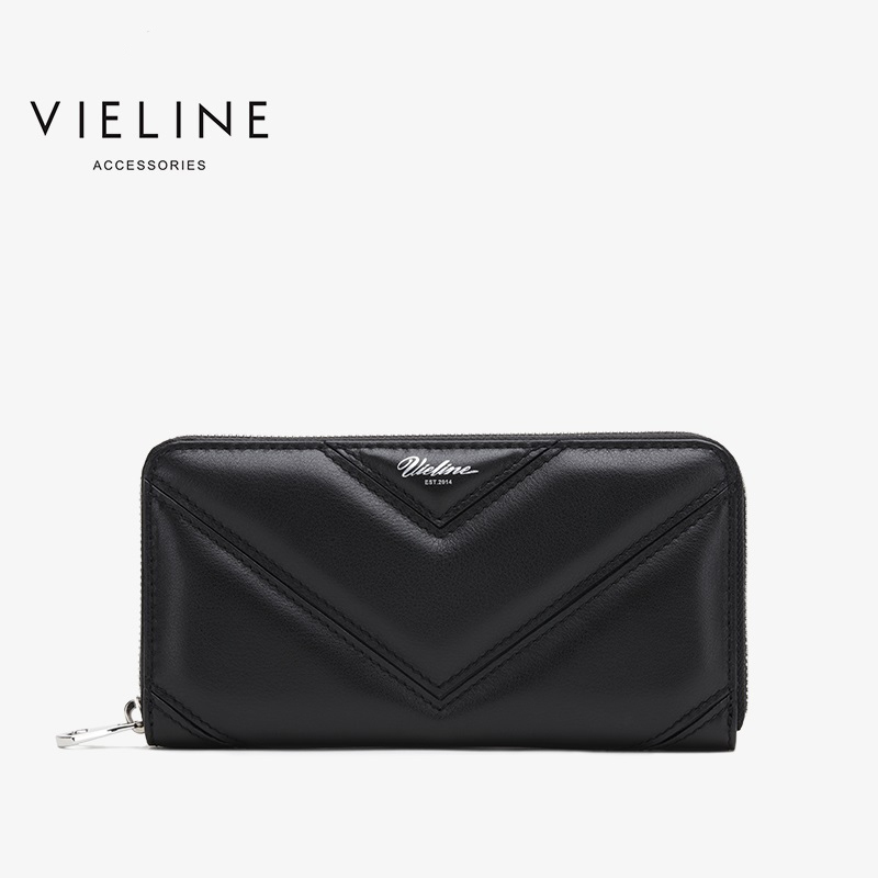 Vieline famous brand women genuine leather clutches wallet lady fashion cow leather long wallet large purse