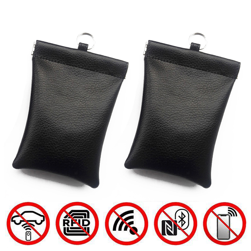 Car Key Signal Blocker Cases Faraday Cage Fob Pouch Keyless RFID Blocking Bags-in Key Case for Car from Automobiles & Motorcycles
