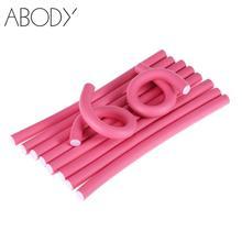 Hair-Roller Curler Styling-Tool Twist Soft-Hair Flexible DIY Foam 10pcs/Set