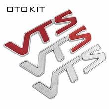Металлический автомобильный значок 3D V T S VTS, эмблема, 3D наклейка с логотипом для Citroen C2, C3, C4, четыре, Сакко, Xsara, Jimny 1,6, 16 В, VTR, красный, серебрист...