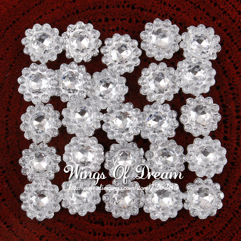 500pcs/lot 11mm Clear Hotfix Bling Acrylic Pointback Rhinestone Buttons Artificial Plastic Decorative Crystal Strass Beads