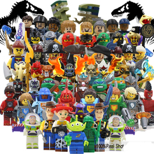 Teenage Mutant Ninja Turtles Minifigures Jurassic World Toy story Pirates of the Caribbean NEXOES KNIGHTS Building block legoes