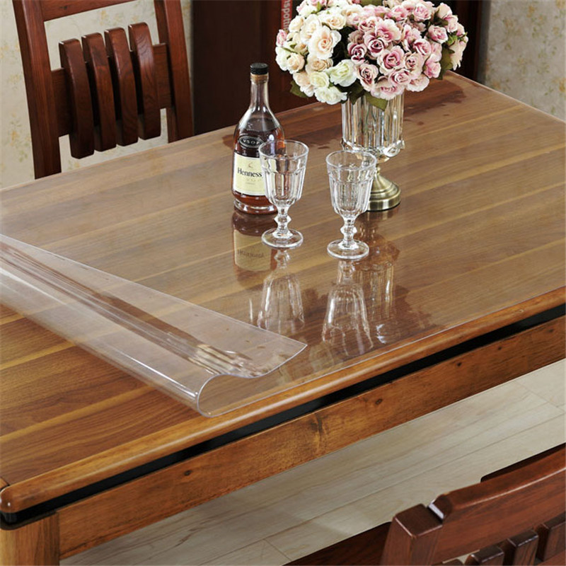 Pvc waterproof oilproof tablecloth clean transparent table for Christmas table cover ideas