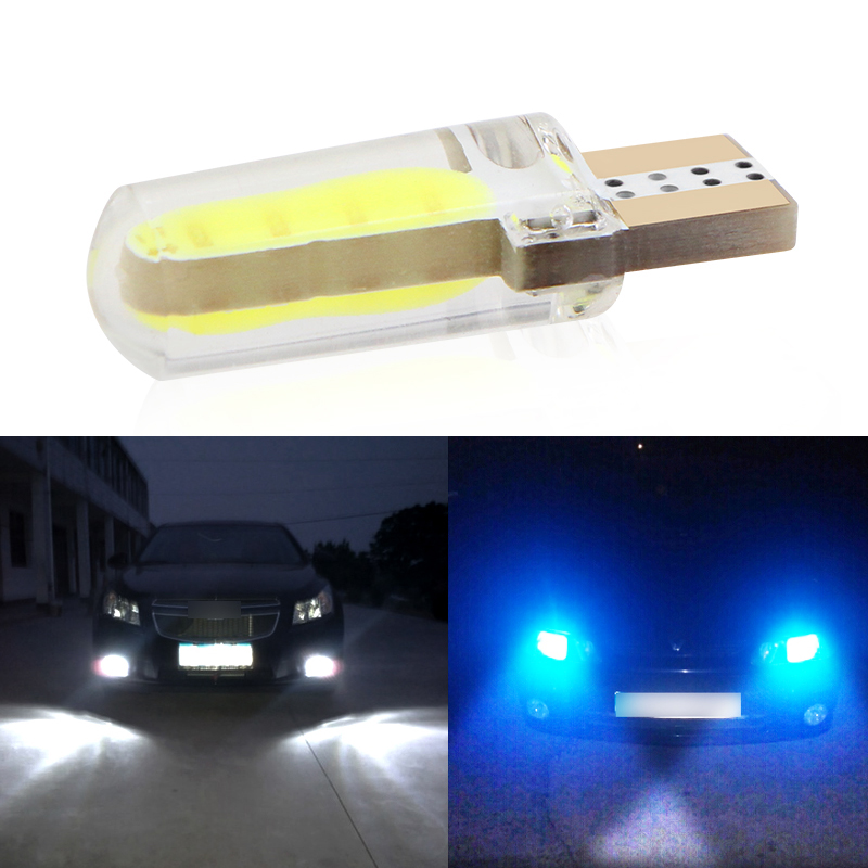 1pcs New Car <font><b>LED</b></font> T10 194 <font><b>W5W</b></font> <font><b>COB</b></font>+Silicone shell <font><b>LED</b></font> Lights Car Side Wedge Light Lamp Bulb White/Blue/Red/Pink Car-styling image