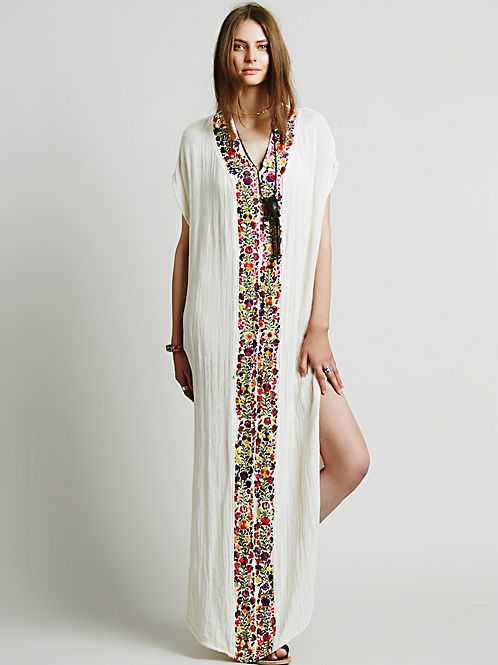 Bohemian White Dress with Sleeves | Long Sleeve Boho Dresses |Tahari White Dress Hippie Bohemian